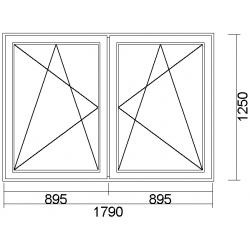 1790x1250 Okno dvojkrídlové...